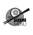sushi and sticks vector image vector image