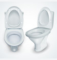 toilet bowl white clean ceramic bathroom vector image