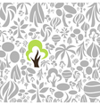 Tree a background2 vector image vector image