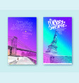 trendy cover template statue of liberty new york vector image
