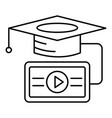 video graduation icon outline style vector image vector image