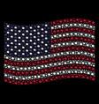 waving united states flag stylization of bang vector image vector image