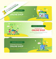 web banners for online shop vector image vector image