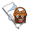 with flag bread basket mascot cartoon vector image