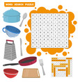 word search puzzle education game for vector image