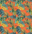 Tropical jungle floral seamless pattern background vector image