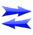 blue arrows sharp glossy 3d web icons vector image