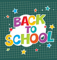 back to school colorful poster with paper and vector image