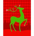 green christmas deer vector image
