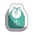 Isolated baby bib design vector image