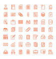 49 document icons vector image vector image