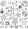 adult coloring book page irregular floral pattern vector image vector image