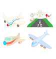 airbus icon set cartoon style vector image
