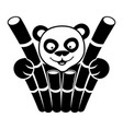 animal panda sign vector image vector image