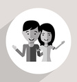 avatars couple vector image vector image