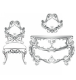 Baroque Classic furniture set vector image vector image