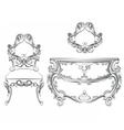 Baroque Classic furniture set vector image
