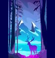 beautiful winter landscape flat design concept vector image vector image