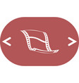 blank film strip icon vector image vector image