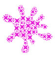 blot composition of sparkle star icons vector image