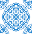 Blue and white round floral background vector image vector image