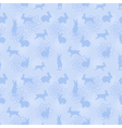 blue enchanted lapins pattern vector image vector image
