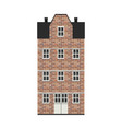 building in bricks in city vector image