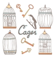 Cages collection vector image vector image