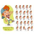 cartoon funny redhead boy big set for animation
