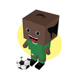 cartoon soccer player vector image vector image