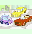 childrens cartoon color book for boys of a vector image vector image