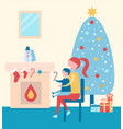 christmas atmosphere poster vector image vector image