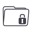 Computer Folder Security vector image