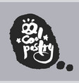 cool pastry in a speech bubble vector image vector image