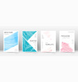 cover page design template triangle brochure layo vector image