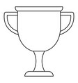 cup award icon thin line vector image