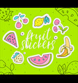 cute girl teenager colored fruit summer icon vector image vector image