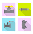 design of pipe and tube icon set of pipe vector image