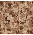 Digital Desert Camouflage Seamless Pattern vector image