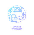 expensive technology concept icon vector image vector image