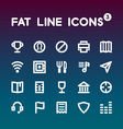 Fat Line Icons set 3 vector image vector image