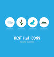 flat icon natural set of tributary peak cattail vector image