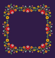 Folk Pattern Flowers-f vector image vector image