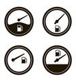 fuel gauges set vector image vector image