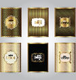 gold stylish brochure templates 2311 vector image vector image