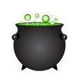 halloween witch potion in pot isolated on white vector image