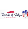 happy fourth july independence day usa vector image vector image