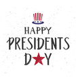 happy presidents day text uncle sam hat symbol vector image