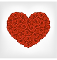 heart from red roses vector image vector image