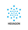 hexagon dot logo concept design symbol graphic vector image vector image